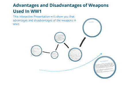 Advantages and disadvantages of weapons in WW1 by Linda K on