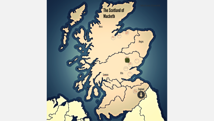 Map Of Macbeth S Soctland By Michael Everett On Prezi