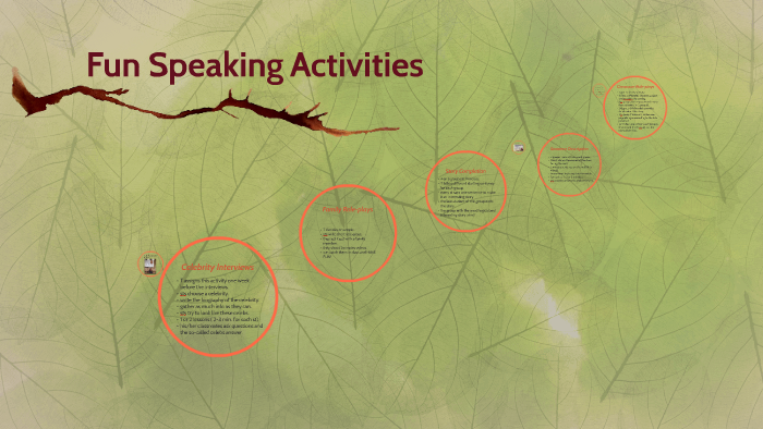 Fun Speaking Activities by Meryem Küçük Moldur on Prezi