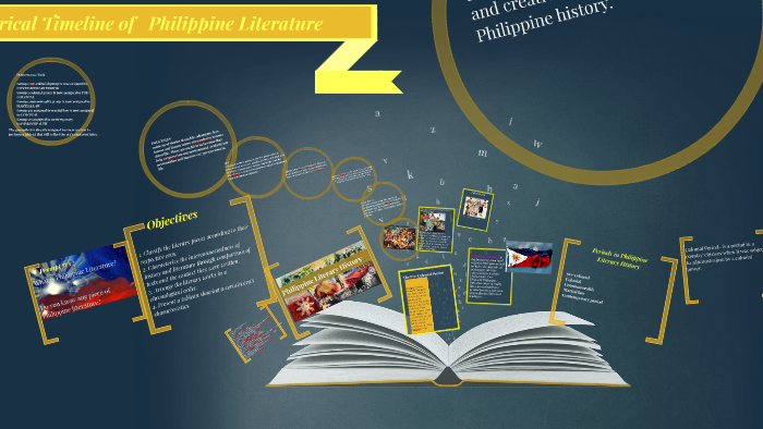 Copy of Historical Timeline of Philippine Literature by josephine