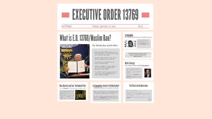 Executive Order 13769 by Sujitha P