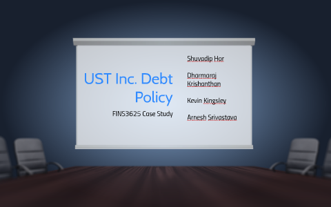 debt policy at ust inc case solution