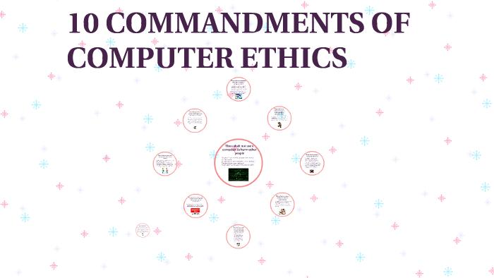 ten commandments of computer ethics with explanation