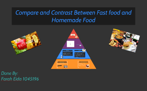 difference between fast food and homemade food