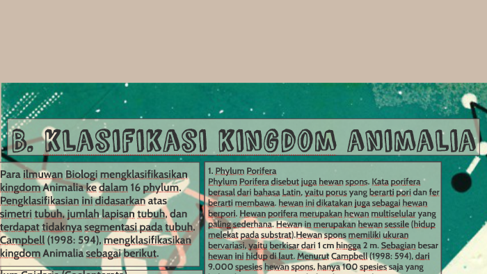 Image of: Diagram Prezi B Klasifikasi Kingdom Animalia By Jacinda Ekky Andarys On Prezi