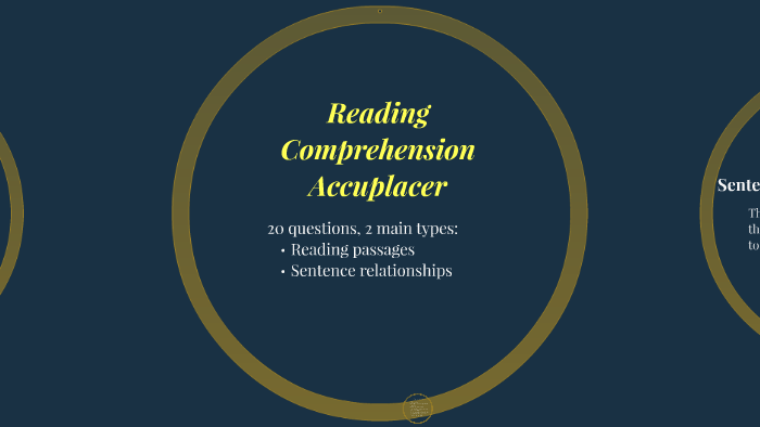 Reading Comprehension Accuplacer by Sheena Strada on Prezi