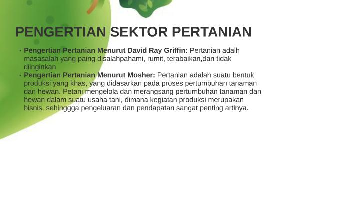 Pentingnya Sektor Pertanian Bagi Ekonomi Indonesia By Faiq Kotus On
