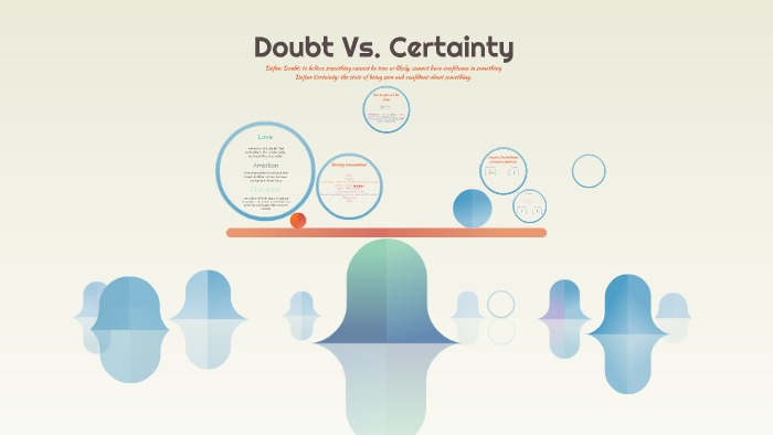certainty vs doubt