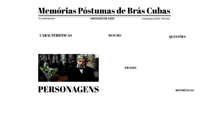 Memórias Póstumas De Brás Cubas By Isabella Corrêa On Prezi Next