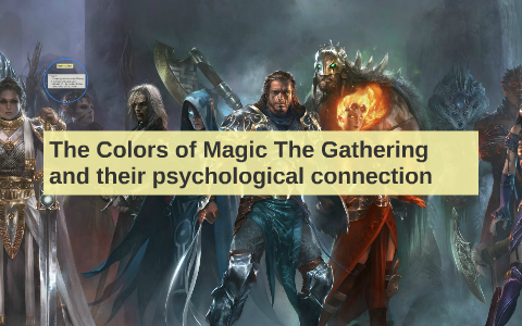 The Colors of Magic The Gathering and their psycological con