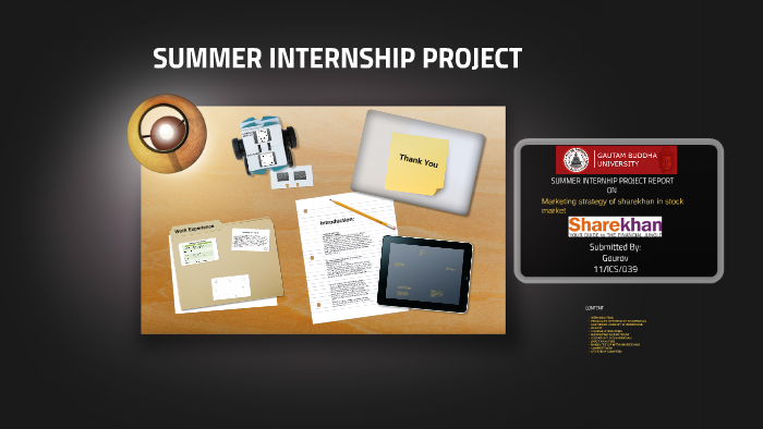 SUMMER INTERNSHIP PROJECT by Akriti Yadav on Prezi