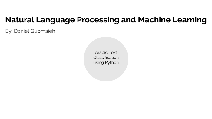 NLP, Machine Learning: Arabic Text Classification using