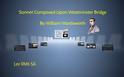 sonnet composed upon westminster bridge