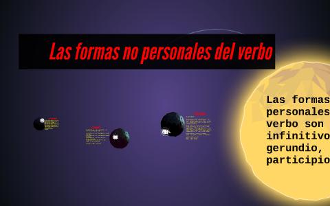 Las Formas No Personales Del Verbo By Yeisson Guerrero