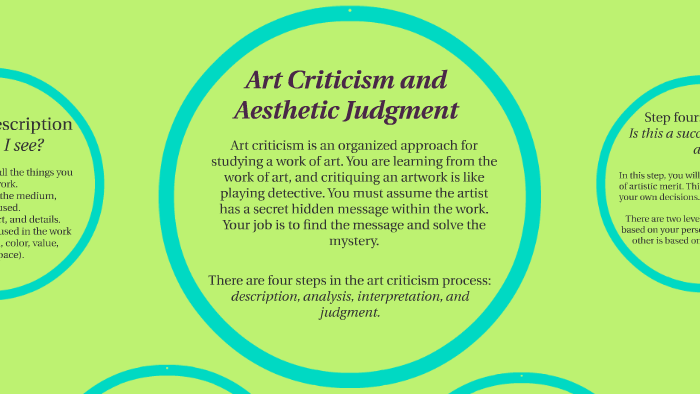 Art Criticism and Aesthetic Judgment by on Prezi