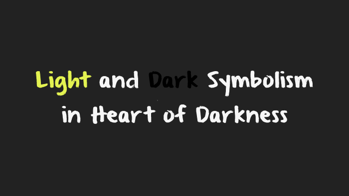 light and dark symbolism