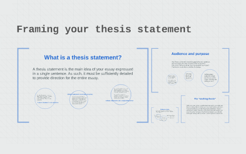 framing your thesis statement by scott swinney on prezi