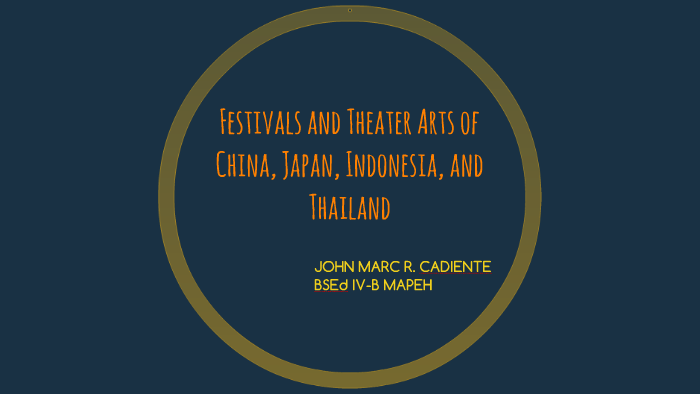 Festivals and Theater Arts of China, Japan, Indonesia, and T by John