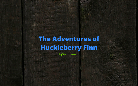 the adventures of huckleberry finn literary devices