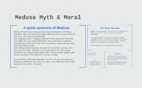 Medusa Myth Moral By Jordan Kuchel On Prezi