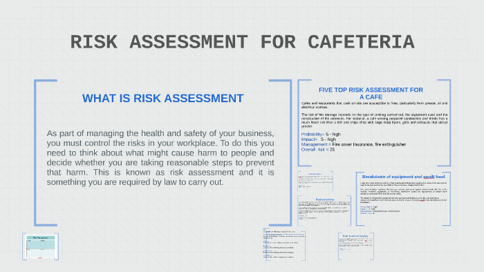 RISK ASSESSMENT FOR CAFETERIA by Eni Oba on Prezi
