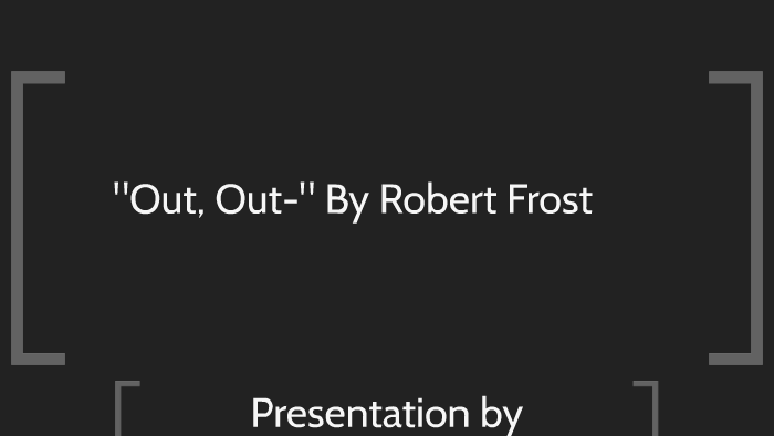 out out frost analysis