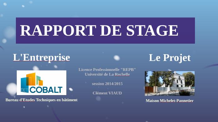 Rapport De Stage By Cléement Viaud On Prezi
