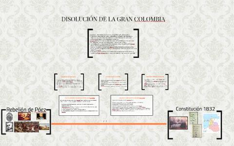 Disolucion De La Gran Colombia By Yessica Garavito