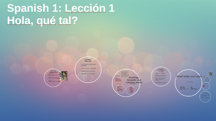 Spanish 1: Lección 1 by Zulma Mendez on Prezi