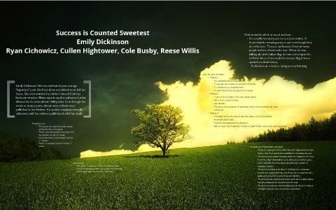 emily dickinsons success is counted sweetest