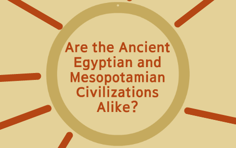 in what two ways are mesopotamia and egypt the same