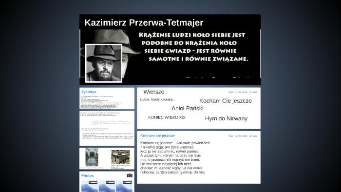 Kazimierz Przerwa Tetmajer By Dominika Grobelna On Prezi