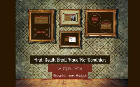 and death shall have no dominion analysis