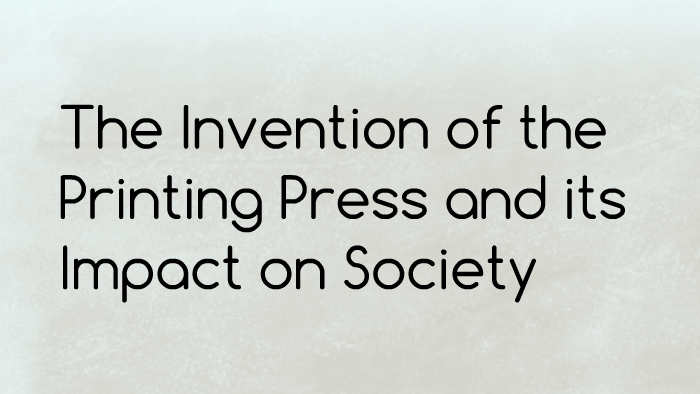 gutenberg printing press impact