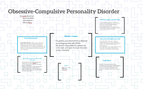 Personality disorder compulsive treatment for obsessive The Three