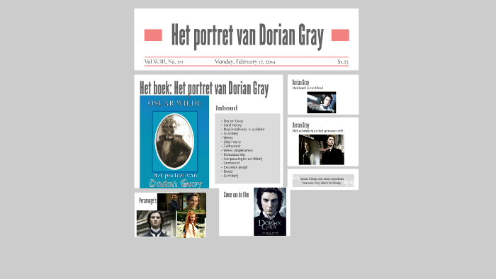 Het Portret Van Dorian Gray By Kylie Philips On Prezi