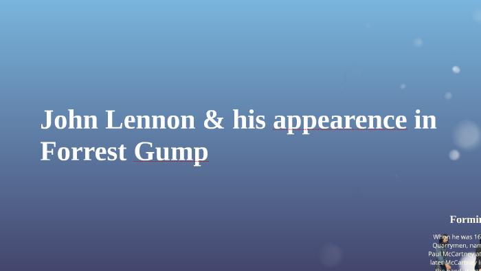 Not dick cavet forest gump john lennon for