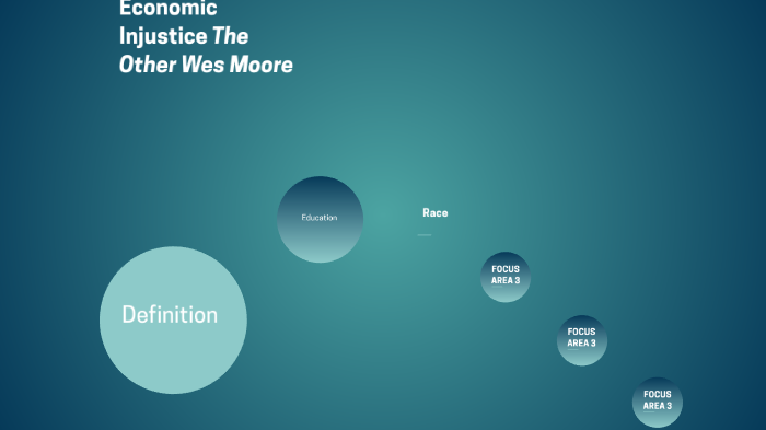 Economic Injustice (The Other Wes Moore) by Maddie Massie on