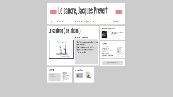 Le Cancre By Sep Van Duikeren On Prezi