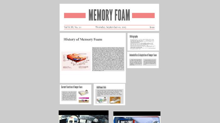 Memory Foam By Saadhvi Mamidi On Prezi Next