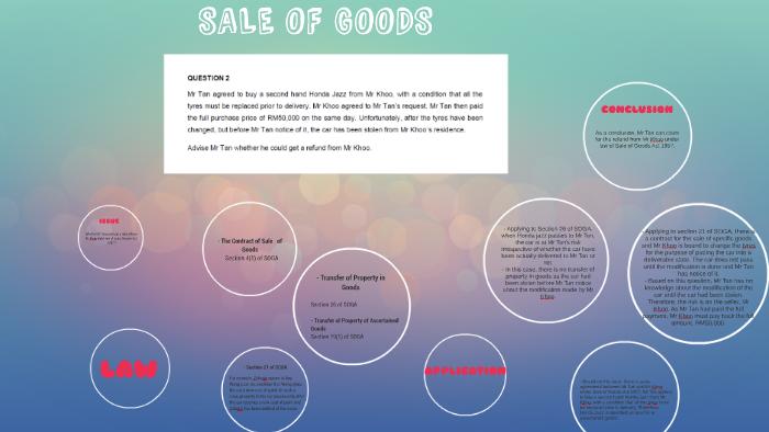 Sale Of Goods By Husna Atirah