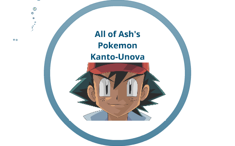All of Ash's pokemon in order of caught and evolution by