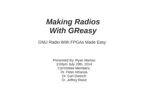Making Radios With GReasy by Ryan Marlow on Prezi
