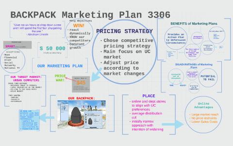 backpack marketing plan 3306 by ellie muller on prezi