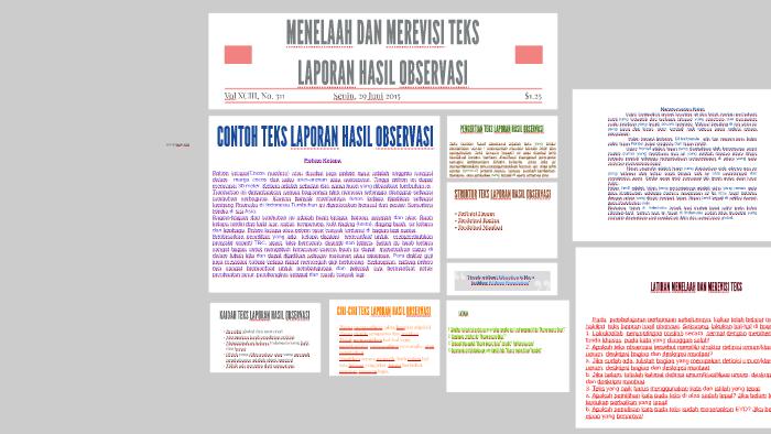 Menelaah Dan Merevisi Teks Laporan Hasil Observasi By Tri