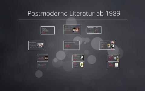 Postmoderne Literatur Ab 1989 By Hendrik Urdahl On Prezi