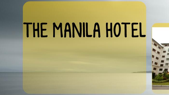 manila hotel organizational chart