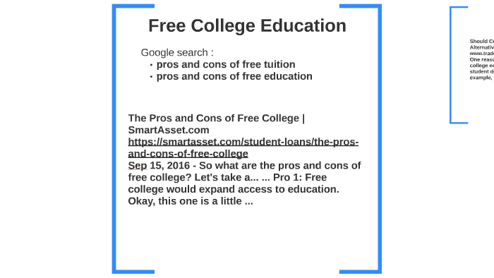 should college be free pros and cons