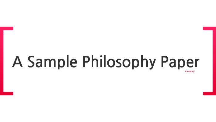 A Sample Philosophy Paper By Angela Mendelovici On Prezi