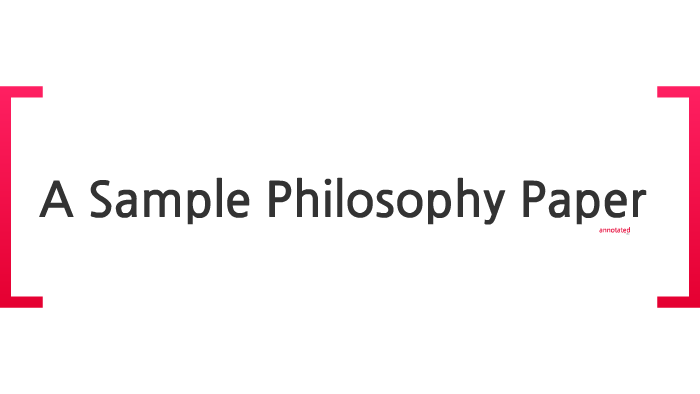 creative philosophy paper titles